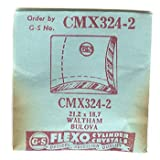 Waltham / Bulova 21.2 X 18.7mm Flexo Replacement Watch Crystal CMX324-2