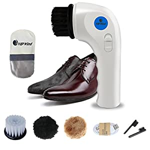 Electric Shoes Polisher,Vipwind Handheld Automatic Electric Shoe Car Brush Shine Polisher with USB Charging Interface