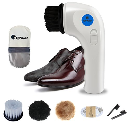 Price comparison product image Electric Shoes Polisher, Vipwind Handheld Automatic Electric Shoe Car Brush Shine Polisher with USB Charging Interface