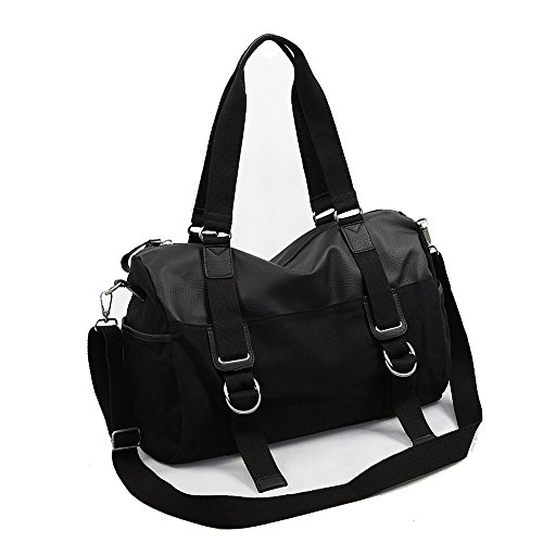 Ybriefbag Unisex Canvas Travel Bag Leisure, Men's Single Shoulder Skew Luggage Package Sports, Business Travel, Fitness Handbags, Bags. Vacation by Ybriefbag (Image #3)