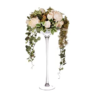 Closer2Nature Artificial 80cm Blush Pink Rose and Peony Arrangement 31