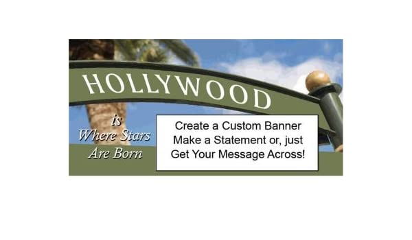 Amazon.com: Hollywood Sign Custom Banner: Health & Personal Care