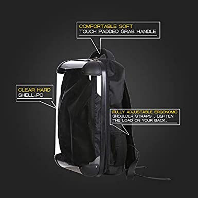Crystalagic City 18 DIY Backpacks Personalized Clear Hard Shell Advertising Backpacks