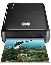 Kodak–Stampante fotografica Mini 2HD, istantanea, senza fili e mobile con tecnologia di stampa brevettata 4Pass, compatibile con iOS e Android, nera