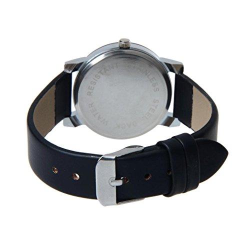 Perman Men's Analog Quartz Black PU Leather Watch by Perman (Image #3)