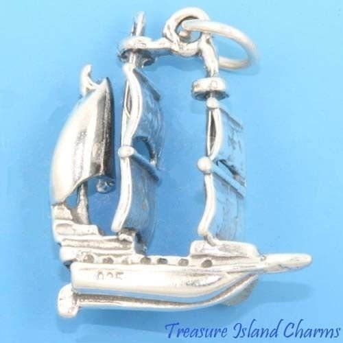 Solid Sterling Silver Charm - 5