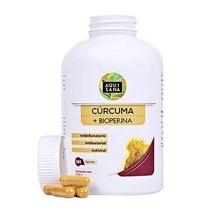 Cúrcuma orgánica con Bioperina de pimienta negra. Fortalece el sistema inmune