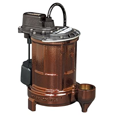 Liberty Pumps 253-2 Wide Angle Float 1/3 HP Cast Iron Submersible Sump/Effluent Pump with Series Plug and 25-Feet Cord