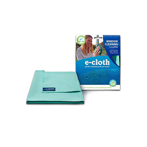 E-Cloth Window Cleaning Pack - 2 cloths, Perfect Chemical Free Cleaning With Just Water, 99% Antibacterial