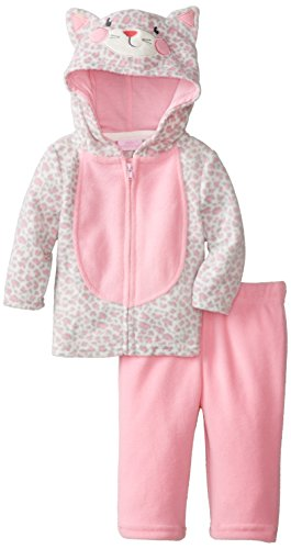 Kids Headquarters Baby-Girls Newborn Cat Head Jacket with Pants, Pink, 0-3 Months