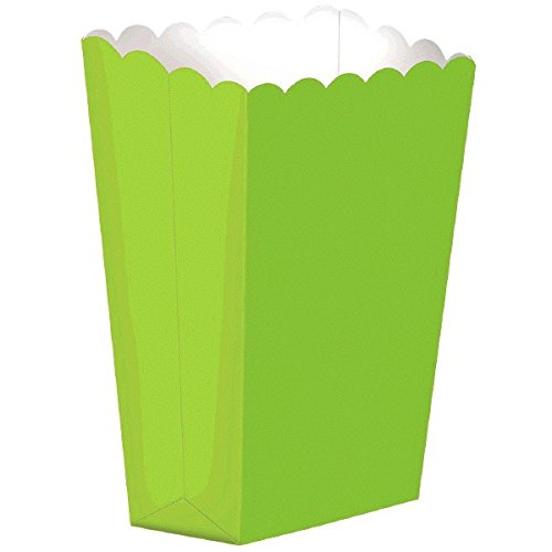 Party Ready Large Popcorn Favour Box, Kiwi Green, Paper, 7