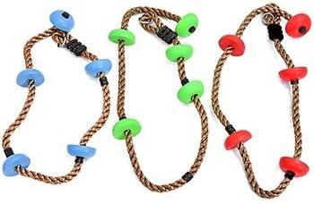 Niños cuerda de escalada, cuerda de escalada árbol con el pie ...