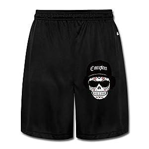 LunaCp Men's Skull Wearing Hats And Sunglasses Performance Shorts Sweatpants M Black