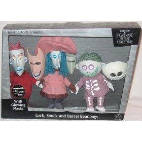 Nightmare Before Christmas ~ Bean Bags - LOCK, SHOCK & -