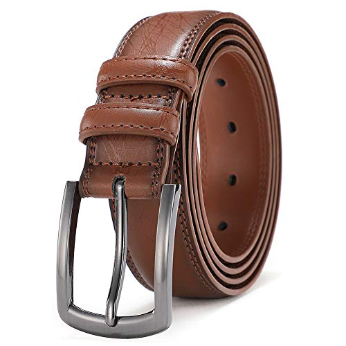Mens Dress Belt Genuine Leather Belts for Men Fashion Designers 1.25 inch wide COOLERFIRE (Waist 37