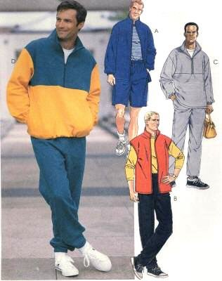 McCall's Sewing Pattern 8579 Mens' Casual Fleece Jacket, Vest, Pullover Top, Pull-on Pants & Shorts, Size LG (42, 44)