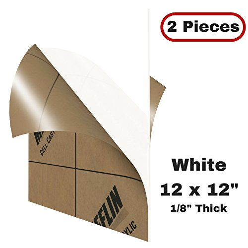 - MIFFLIN Cast Plexiglass Sheet (Translucent White, 2 Pack, 12