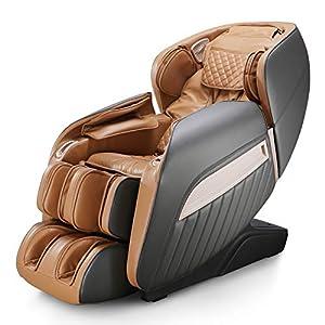 Naipo Fauteuil de massage électrique, siège de massage inclinable pour tout le corps, 12 programmes de massage…