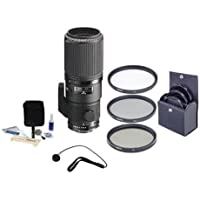 Nikon Nikkor 200mm f/4D ED-IF AF Lens Bundle. USA. Value Kit with Accessories