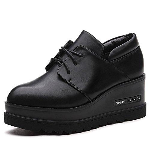 Versión coreana de los zapatos de Joker/Zapatos de suela gruesos la señora/Primavera y otoño de cuñas zapatos A