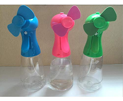H-Hour Misting Fan, Handheld Water Misting Fan, Battery Operated Spray Fans for Outdoor, Fine Mist Sprayer - Set of 3