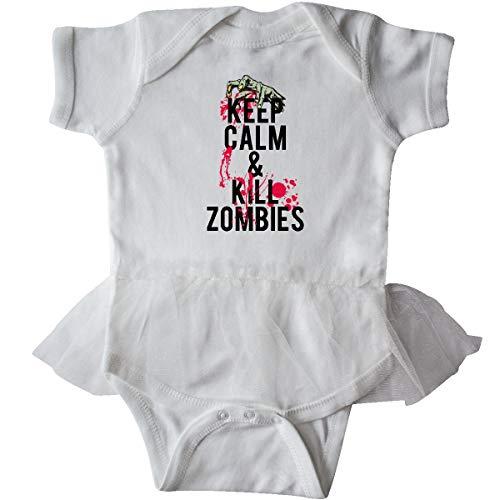 inktastic - Keep Calm & Kill Zombies Infant Tutu Bodysuit 12 Months White 11037]()