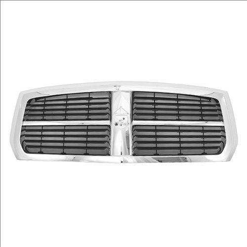 (CarPartsDepot, Pickup Truck Grille Grill Front Chrome Frame / Black Removable Insert Assembly, 400-17616 CH1200279 55077608AA)