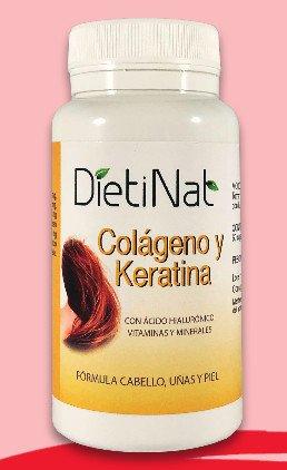 Colágeno Keratina Ac Hialurónico + Vitaminas y minerales 60 CÁPSULAS DE 1.049 MG/Pelo Piel