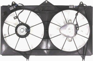 Toyota Camry Radiator Fan Shroud - QP T600R-a Toyota Camry Replacement AC A/C Condenser Radiator Cooling Fan/Shroud Assembly