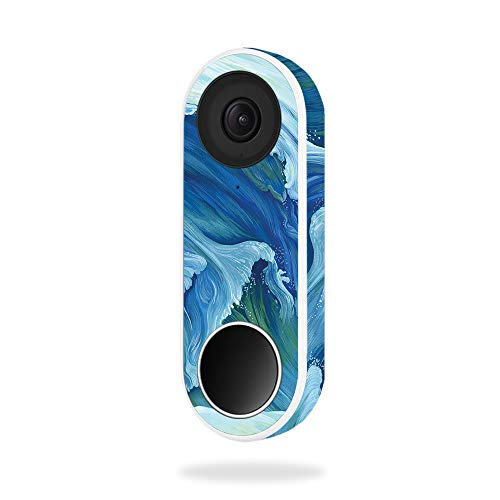 MightySkins Skin for Nest Hello Video Doorbell - Perfect Wave | Protective, Durable, and Unique Vinyl Decal wrap Cover | Easy to Apply, Remove, and Change Styles | Made in The USA