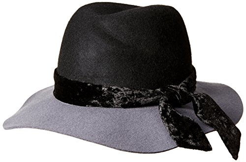 Orchid Row Women's Fashion Ranger Hat with Velvet Band Grey/Black O/S