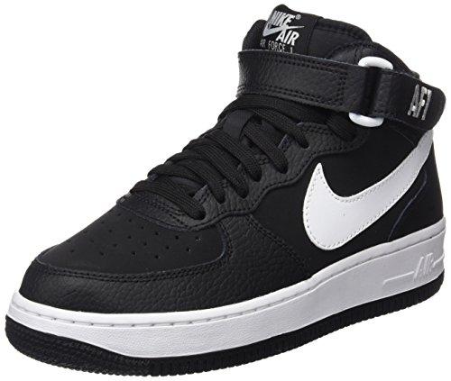 Nike Air Force 1 Mid (gs) Jongens Basketbalschoenen 314195-113 Zwart / Wit