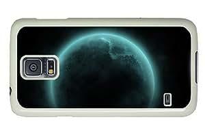 Hipster Samsung Galaxy S5 Case custom Fantasy Moon Art PC White for Samsung S5