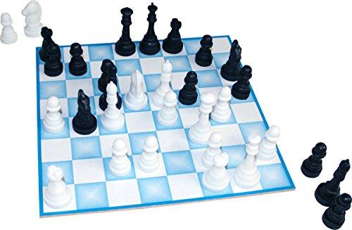 Jogo de Xadrez MDF Rei 5Cm 32 Peças Carlu Brinquedos 20x20cm