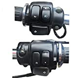 CONGCASE 1'' 25mm Motorcycle Handlebar Aluminum Control Switch Kills Start Switch with Flash Button Switch of Wiring Harness (Color : Black)