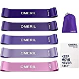 OMERIL Resistance Bands for Women, Exercise Bands for Working Out with Instruction Guide and Carry Bag, Stretch Bands Loops f