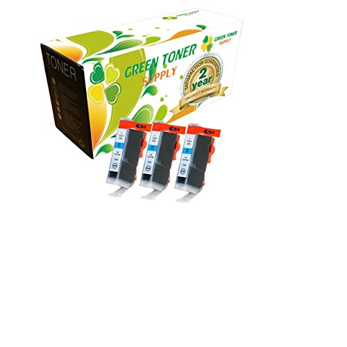 Green Toner SupplyTM Compatible Ink Cartridge Replacement for Canon BCI-6 (Cyan, 3-Pack)