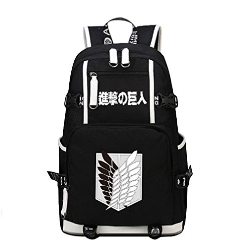 YOYOSHome Japanese Anime Cosplay Bookbag College Bag Backpack School Bag (Attack on Titan 1)