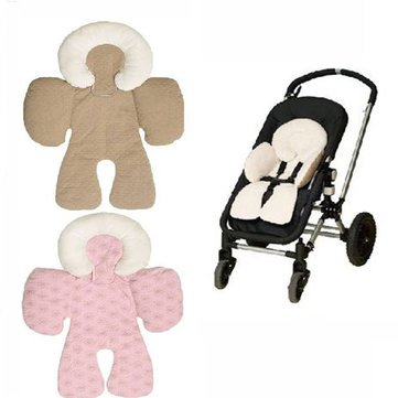 Price comparison product image Stroller Cushion Pad - Stroller Seat Cushion Pad - Baby Kid Reversible Baby Body Support Compliance Car Seat Stroller Cushions Pad - khaki ( Baby Stroller Cushion Pad )