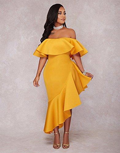 De Feuille Collier Pw Mot Robe Lotus Yellow qwT01Ux