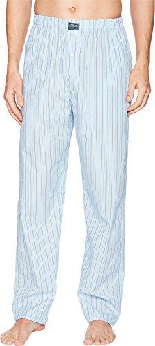 Ralph Lauren Mens Pajamas - Polo Ralph Lauren Men's Woven Stripe PJ Pants Bari Stripe Large