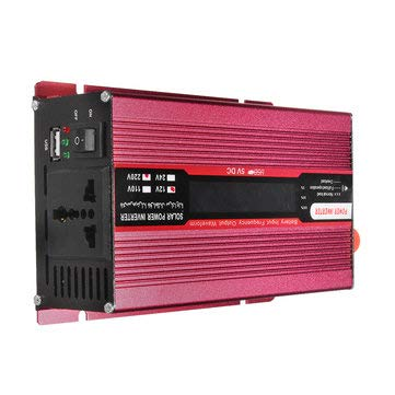 1000W DC 12V/24V to AC 220V/110V Solar Power Inverter Modified Sine Wave LCD Voltage Display - Electrical Equipment & Supplies Power Inverter - (24V-110V)