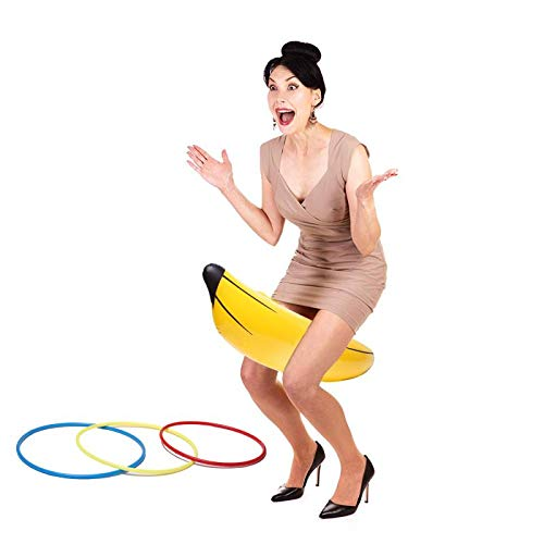 xixiparty Bachelorette Party Games, Bridal Shower Inflatable Banana Ring Toss Game ()