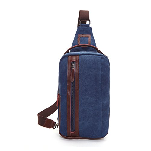 Wewod pecho Paquete/paquetes/hombre bolso de la lona de la moda retro de la coreano 19 x 31 x 9 cm (L*H*W) Azul marino