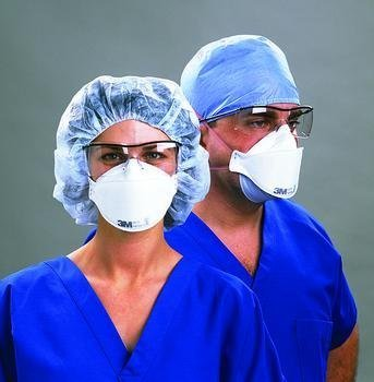 1 box of 20 3m healthcare particulate respirator and surgical mask