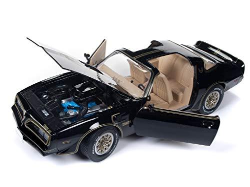 1977 Pontiac Firebird Trans Am Special Edition Black Hemmings Muscle Machines Cover Car Ltd Ed 1002 pcs 1/18 Diecast Model Car by Autoworld AMM1177
