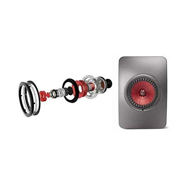 KEF LS50 Wireless - Enceinte sans Fil - Titane | Enceintes Actives | HiFi | Airplay 2 Enceintes | Spotify Connect, Tidal | LS50 système de Musique Active et système stéréo 6