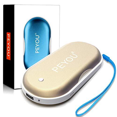 PEYOU Handwarmers Oplaadbaar [3 in 1], 5200mAh USB handwarmers, herbruikbare handwarmer draagbaar, dubbelzijdig…