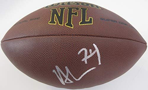 Nick Mangold, New York Jets, Ohio State Buckeyes, Signed, Autographed, NFL Football, a COA with the Proof Photo of Nick Signing Will Be -