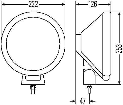 Round mounting transparent Rallye 3000 H1-12V//24V Fitting Position: Left//Right Halogen Ref 37,5 HELLA 1F8 006 800-051 Spotlight